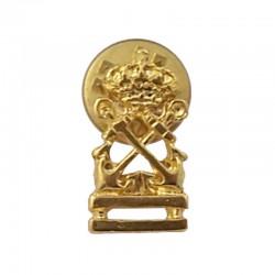 Pin Patrón de yate, de metal dorado