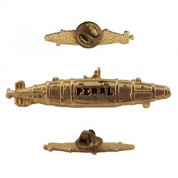 Pin Submarino Peral, de metal dorado