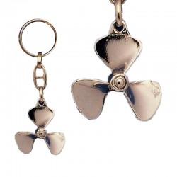 Keychain Propeller, of gilded metal
