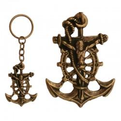 Llavero Cristo del mar, oro viejo