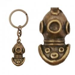 Llavero Escafandra, de metal oro viejo