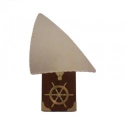 Wall lamp brass wheel rudder 23x15x13cm