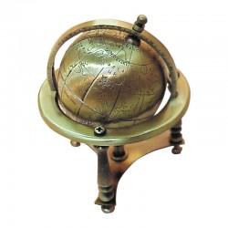 Brass world globe 11cm