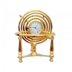 Armillary sphere with watch, of gilded brass 12x9cm