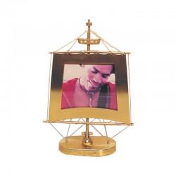 Brass photo frame with sail shape 16x23x6cm