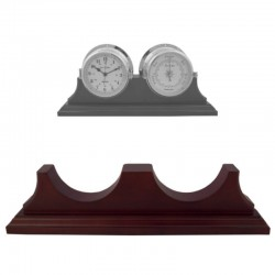 Wood support for 2 clocks weather station