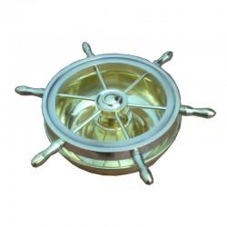 Cenicero rueda de timón de latón
