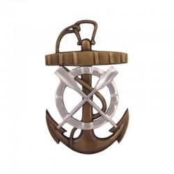 Anchor, oars and lifebuoy for wall