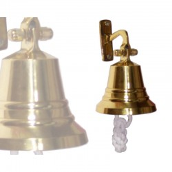 Brass bell 70mm with wall support