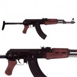 AK47 asault rifle with tubular buttstock