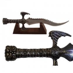Miniatura daga de guerrero bárbaro