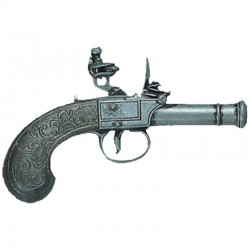 Flintlock pistol, England 18th. Century