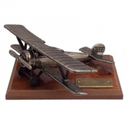 Miniatura francés Nieuport 17, peana madera