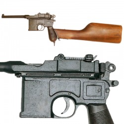 Pistola Mauser C96, culata madera