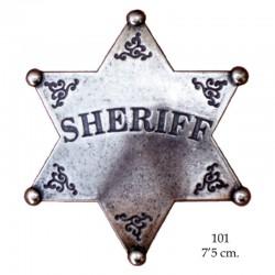 Placa Sheriff de 6 puntas