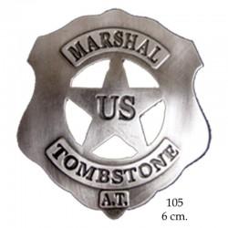 U.S Marshal Tombstone badge