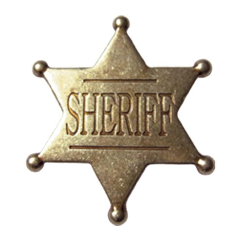 Placa Sheriff 6 puntas