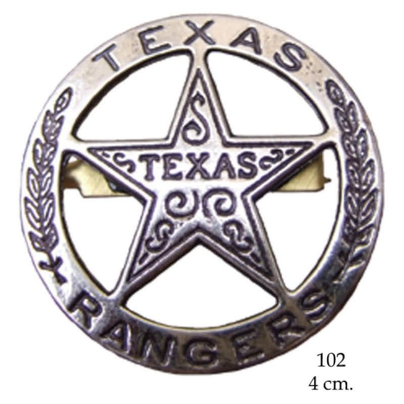 Texas Rangers circle star cut-out badge