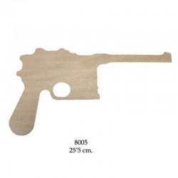 Luger pistol, wooden silhouette to be painted