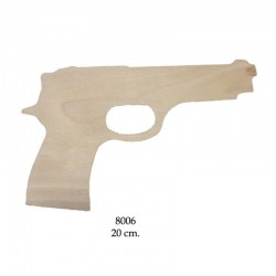 Beretta pistol, wooden silhouette to be painted