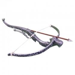 Metallic medieval crossbow