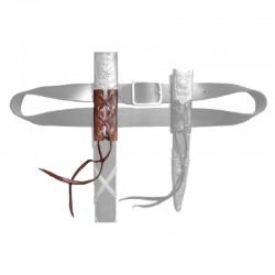 Leather hanger for wide swords