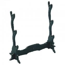 Metal stand for three miniature of weapons