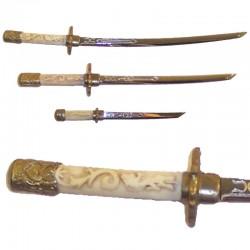 Juego de 3 mini-armas samurais