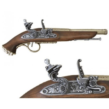 Flintlock pirate pistol, 18th. Century (36cm)