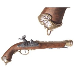Percussion pirate pistol, Italy 18th. century (37cm)