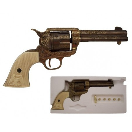 """Cal.45 Peacemaker revolver 4,75"""", with 6 bullets, USA 1873 (29cm)"""