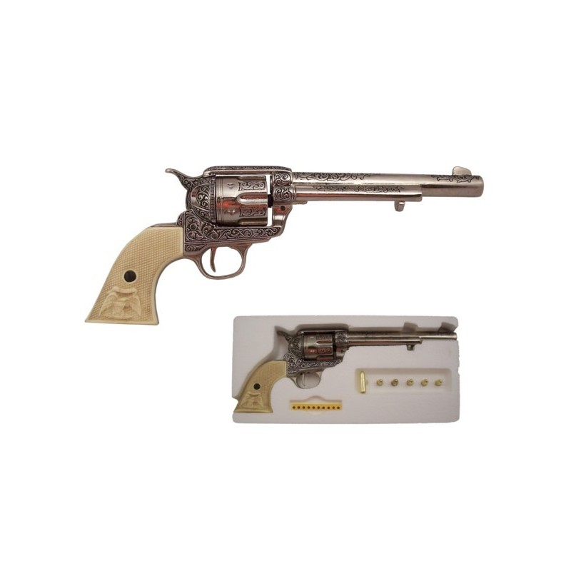 Cal.45 cavalry revolver, with 6 bullets, USA 1873 (34cm)