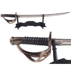 Letter opener Cavalry saber with support
