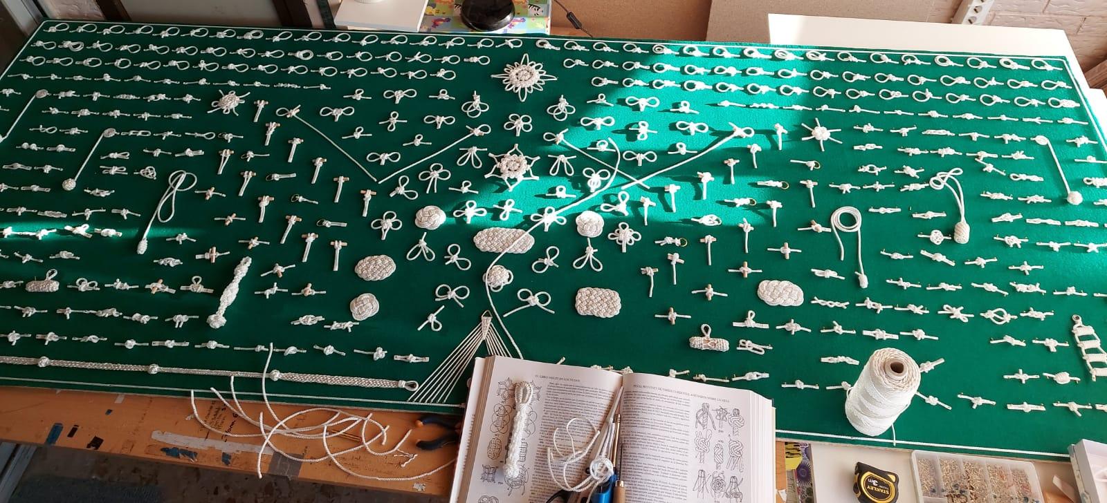 Knots board in process